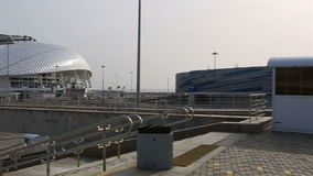 Panorama des Olympiaparks in Sochi stock footage