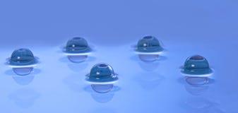 Panorama des perles dans l'eau calme Image libre de droits