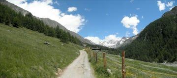 Panorama des Pfossental in Italien Lizenzfreie Stockbilder