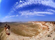 Panorama des précipices rocheux dans l'Oust-Ourt Photo stock