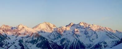 Panorama des Pyrénées Images stock