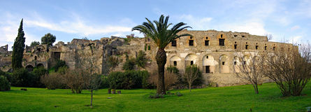 Panorama des ruines de Pompeii. images stock