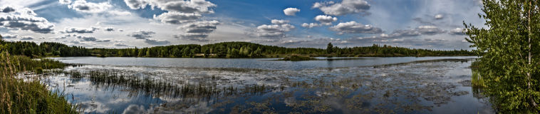 Panorama des Sees in Elkino Lizenzfreie Stockfotos