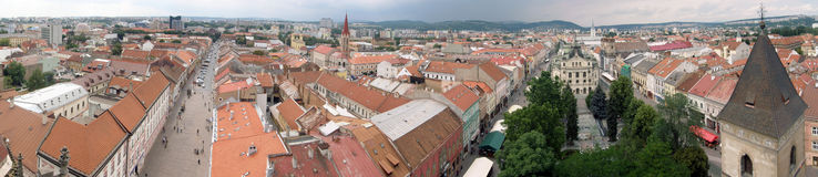 Panorama des Stadtzentrums in Kosice Stockfotografie