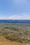 Panorama des Strandes am Riff, Sharm el Sheikh Stockfoto