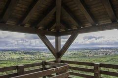 Panorama des Tieflandes vom Ausblickturm Lizenzfreies Stockbild