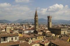 Panorama des toits et des tours de Florence photos stock