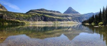 Panorama des versteckten See-Glacier Nationalparks Stockbilder