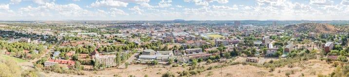 Panorama des zentralen Geschäftsgebiets in Bloemfontein Lizenzfreie Stockfotos