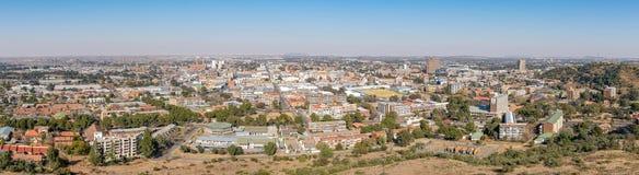 Panorama des zentralen Geschäftsgebiets von Bloemfontein Lizenzfreie Stockbilder