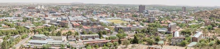 Panorama des zentralen Geschäftsgebiets von Bloemfontein Lizenzfreie Stockfotos