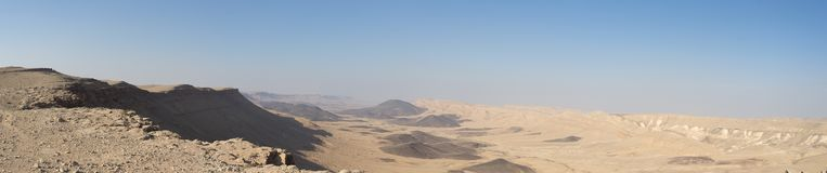 Panorama of Desert landscape nature tourism and travel Royalty Free Stock Photos