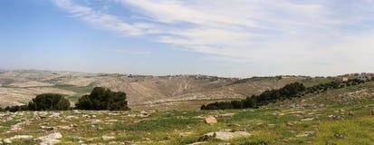 Panorama desert mountain landscape, Jordan Royalty Free Stock Photos