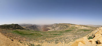 Panorama desert mountain landscape, Jordan Stock Photography