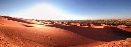 Panorama 2, Desert Rub` al Khali, Abu Dhabi, Jan.2018. Panorama 2, Desert Rub` al Khali, Liwa, Abu Dhabi,  United Arab Emirates, Jan.2018 Stock Image