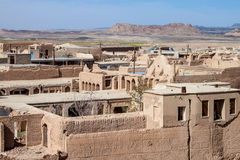 Panorama of desert town Naein Royalty Free Stock Photo