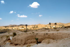 Panorama of the desert village of Matmata Royalty Free Stock Image