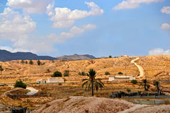 Panorama of the desert village of Matmata - Tunisia Royalty Free Stock Photography