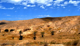 Panorama of the desert village of Matmata - Tunisia. Africa Royalty Free Stock Images