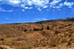 Panorama of the desert village of Matmata - Tunisia Royalty Free Stock Images