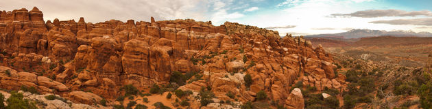 Panorama of Devils Garden. Royalty Free Stock Images