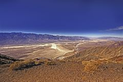 Panorama of Devils Golf Course in Death Valley USA Royalty Free Stock Photo