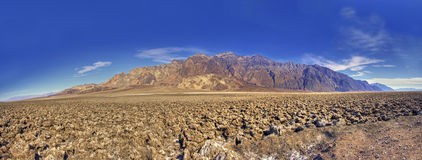 Panorama of Devils Golf Course in Death Valley USA Royalty Free Stock Photos