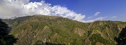 Panorama of the Dharamsala hills Royalty Free Stock Photos