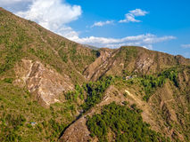 Panorama of the Dharamsala hills Stock Images