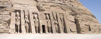 Panorama di Abu Simbel Fotografie Stock Libere da Diritti