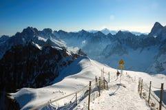 Panorama di Aiguille du Midi Fotografia Stock Libera da Diritti