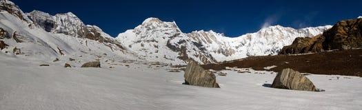 Panorama di alba di Annapurna immagini stock libere da diritti