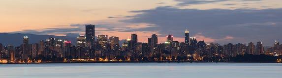 Panorama di alba di Vancouver Fotografia Stock