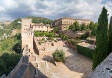 Panorama di Alhambra Fotografia Stock Libera da Diritti