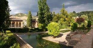 Panorama di Alhambra Fotografia Stock