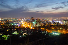 Panorama di Almaty uguagliante Immagine Stock Libera da Diritti