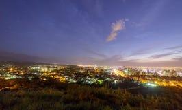 Panorama di Almaty uguagliante Immagini Stock