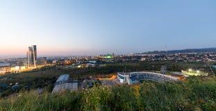 Panorama di Almaty uguagliante Fotografia Stock Libera da Diritti
