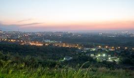 Panorama di Almaty uguagliante Fotografie Stock