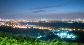 Panorama di Almaty uguagliante Fotografia Stock