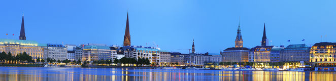Panorama di Alster Immagine Stock