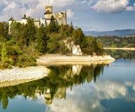 Panorama di alta risoluzione del castello di Niedzica Fotografie Stock