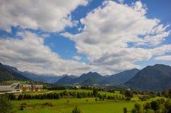 Panorama di Altaussee, Austria Fotografia Stock