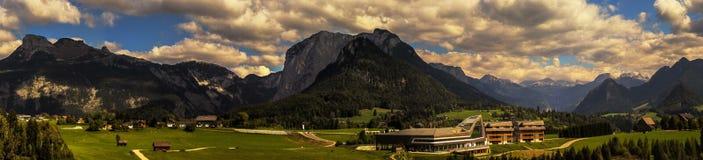 Panorama di Altaussee, Austria Immagini Stock