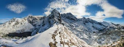 Panorama di alte montagne di Tatra Fotografia Stock Libera da Diritti