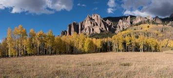 Panorama di alto Mesa Pinnacles Fotografie Stock