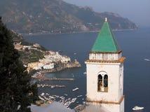 Panorama di Amalfi Pastena Fotografia Stock