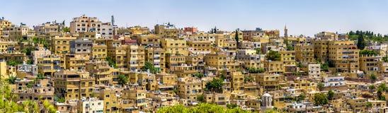 Panorama di Amman, Giordano Immagini Stock Libere da Diritti