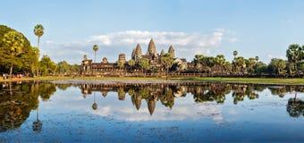 Panorama di Angkor Wat Fotografie Stock Libere da Diritti