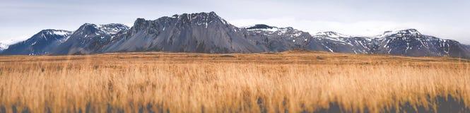 Panorama di angolo basso dell'Islanda Fotografia Stock